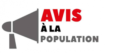 AVIS A LA POPULATION